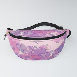 Boiling water in magenta: soft abstract digital art fashionable modern colors Fanny Pack