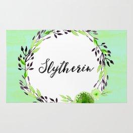 HP Slytherin in Watercolor Rug