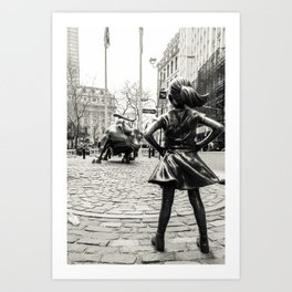 Fearless Girl & Bull - NYC Art Print