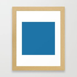 Pelorous Blue Colour Framed Art Print