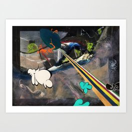 Space Immigrants (oil on canvas) Art Print