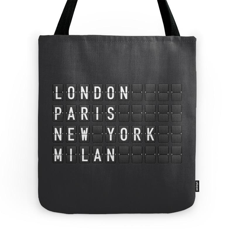 London, Paris, New York, Milan Tote Purse by printapix (TBG7833187) photo