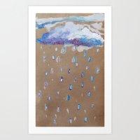 Glitter Rain Art Print