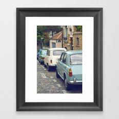 Vintage Parisian Streets Framed Art Print