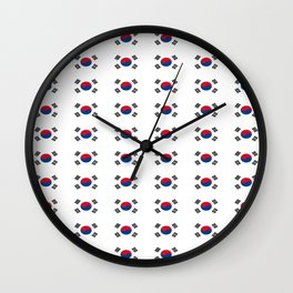flag of south korea 2 -korea,asia, 서울특별시,부산광역시, 한국,seoul Wall Clock