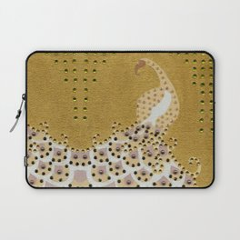 Peacock in Gold Laptop Sleeve