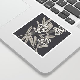 Boho Botanica Black Sticker