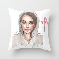 pretty little liars Throw Pillows featuring Pretty Little Liars by deepfriedfreckles