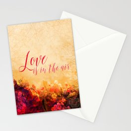 LOVE IS THE AIR Portrait Stationery Cards