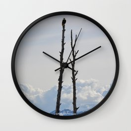 Perch With A View - IV Wall Clock