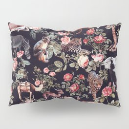 Animals and Floral Pattern Pillow Sham