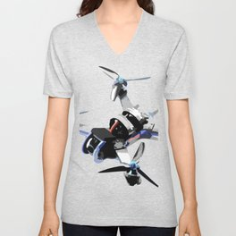 Freestyle quad or fpv drone for race drone freestyle pilots Unisex V-Neck