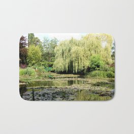 Willow Tree in Monet's Garden  Bath Mat