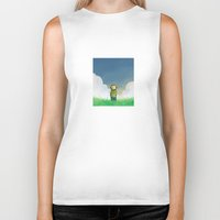 relax Biker Tanks featuring Relax by Janko Illustration