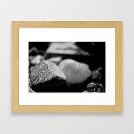 Garden rocks  Framed Art Print