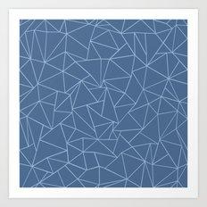 Ab Outline Blues Art Print