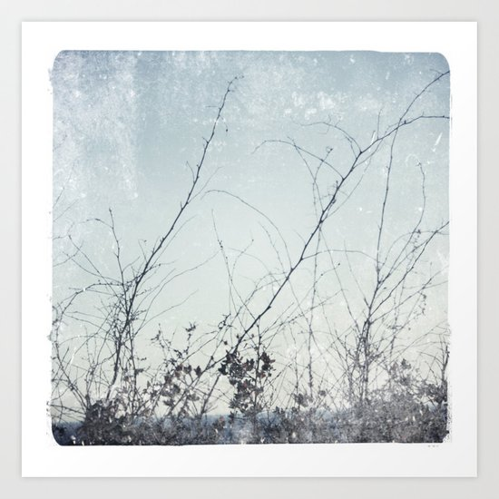 sea plants (light blue) Art Print