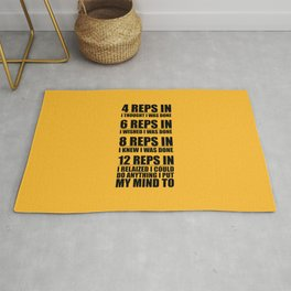 Lab No. 4 - 4 Reps In I Thought I Was Done Gym Motivational Quotes Poster Rug