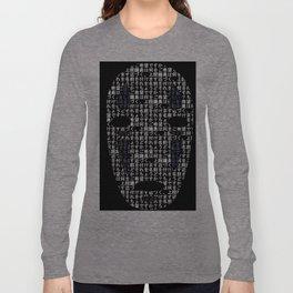 No-Face Mask Typograph Long Sleeve T-shirt