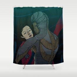 Fluid love Shower Curtain