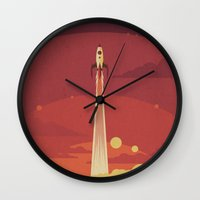 sky Wall Clocks featuring Atomic Sky by Danny Haas