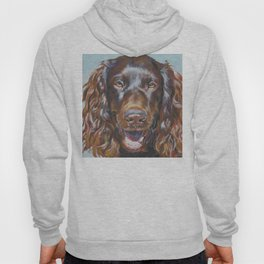 Boykin Spaniel dog art portrait from an original fine art painting by L.A.Shepard Hoody