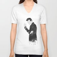 moriarty V-neck T-shirts featuring Moriarty by daniel