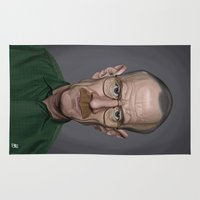 actor Area & Throw Rugs featuring Celebrity Sunday ~ Bryan Cranston by rob art | illustration