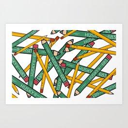 Pencils Pencils Pencils Art Print