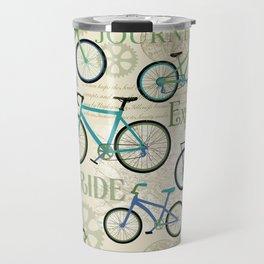 Bicycle Journey Blue Travel Mug