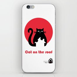 """""""Cat on the roof"""" by Qora and Shaï iPhone Skin"""