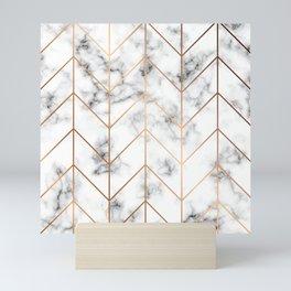 Marble Geometry 057 Mini Art Print