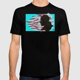 Black woman with braids floral T-shirt