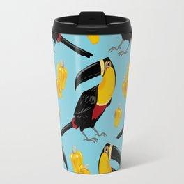 Brazilian Birds & Fruits - Channel-billed Toucan + cashews Travel Mug