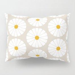 Minimal Botanical Pattern - Daisies Pillow Sham