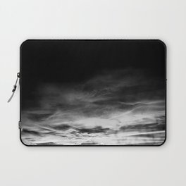 BLACK & WHITE TOUCHING #1 #abstract #decor #art #society6 Laptop Sleeve