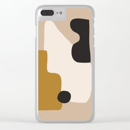 abstract minimal 16 Clear iPhone Case