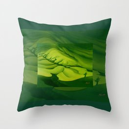 Green, Green ... Throw Pillow