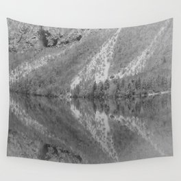 Silver Landscape At Lake Bohinj Wall Tapestry