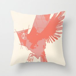 Tilted Bird Throw Pillow