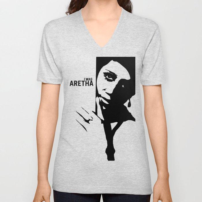 I Was Aretha Unisex V-Neck