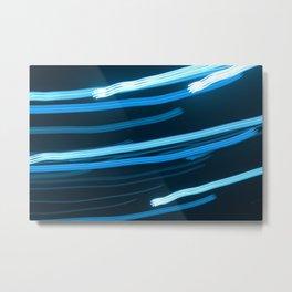 Blue Swizzle Metal Print
