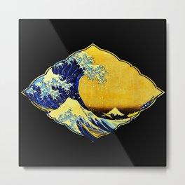 The Great Wave off Kanagawaby Katsushika Hokusai Metal Print