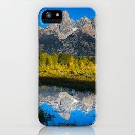 Grand Teton - Reflection at Schwabacher's Landing iPhone Case