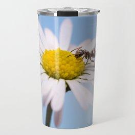 Ant On A Flower Travel Mug