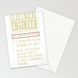 Electrical Engineer Funny Dictionary Term Stationery Cards