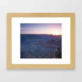 Beautiful Sunrise in the Grand Canyon Framed Art Print