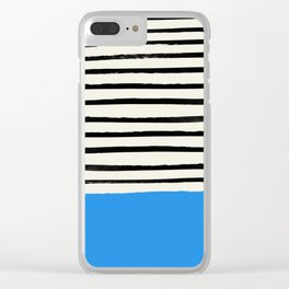 Ocean x Stripes Clear iPhone Case