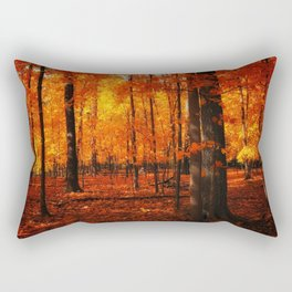 Fall Trees (orange) Rectangular Pillow