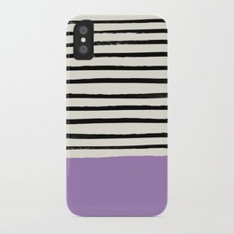 Lavender x Stripes iPhone Case